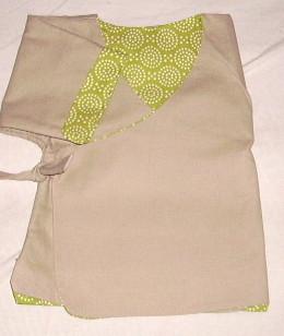 Kimono_vert_beige_ptits_pois